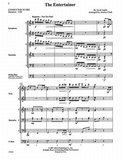The Entertainer, For Percussion Quintet with Optional Bass Guitar (Partituur + Partijen)_4