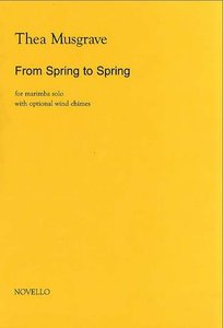Musgrave: From Spring To Spring for Solo Marimba (Boek)