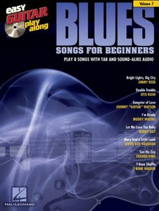Easy Guitar Play-Along Volume 7: Blues Songs For Beginners (Book/CD)