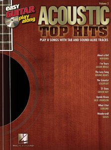 Easy Guitar Play-Along Volume 2: Acoustic Top Hits (Book/CD)