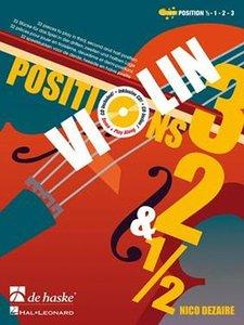 Violin Positions 3, 2 & 1/2 (Boek/CD)