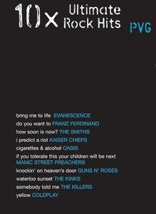 10x Ultimate Rock Hits - Piano/Zang/Gitaar (Book)
