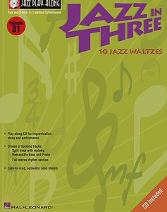 Jazz Play Along Volume 31: Jazz in Three (Book/CD)