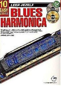Leer Jezelf Blues Harmonica, 10 eenvoudige lessen (Boek/CD/DVD)