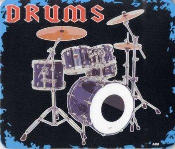 Muismat drums met afbeelding van een drumstel