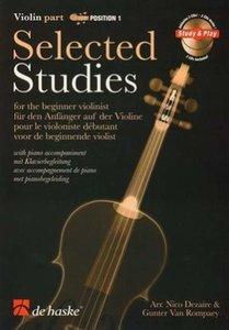 Selected Studies 1 - Voor de beginnende violist (Boek/CD)