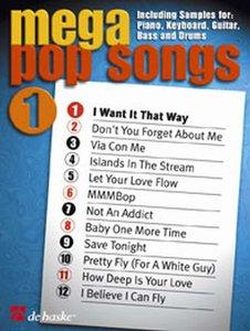 Mega Pop Songs 1 (Boek)