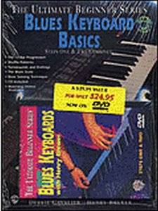 The Ultimate Beginner Series Mega Pack: Blues Keyboard Basics Steps One & Two Combined (Book/CD/DVD)