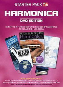 In A Box Starter Pack: Harmonica (Book/CD/DVD/Instrument)