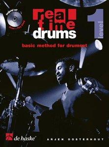 Real Time Drums 1 - Basic Method For Drumset (Level 1) (Boek/CD)