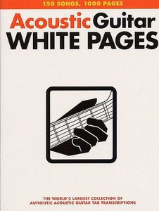 Acoustic Guitar Tab White Pages (Book)