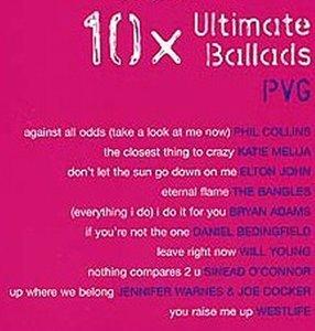 10x Ultimate Ballads - Piano/Zang/Gitaar (Book)