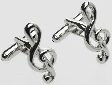 Manchetknopen in de vorm van een G-sleutel (1 paar)