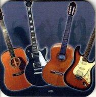 Onderzetter-gitaar-met-afbeelding-van-diverse-gitaren