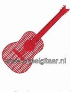 Vliegenmepper-in-de-vorm-van-een-gitaar-rood