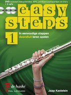 Easy-Steps-1-Dwarsfluit-(Boek-2-CD-DVD)