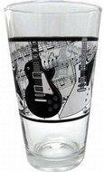 Frisdrank-glas-of-bier-vaasje-met-gitaren-als-opdruk